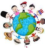 earth multicultural children vector 1013224a